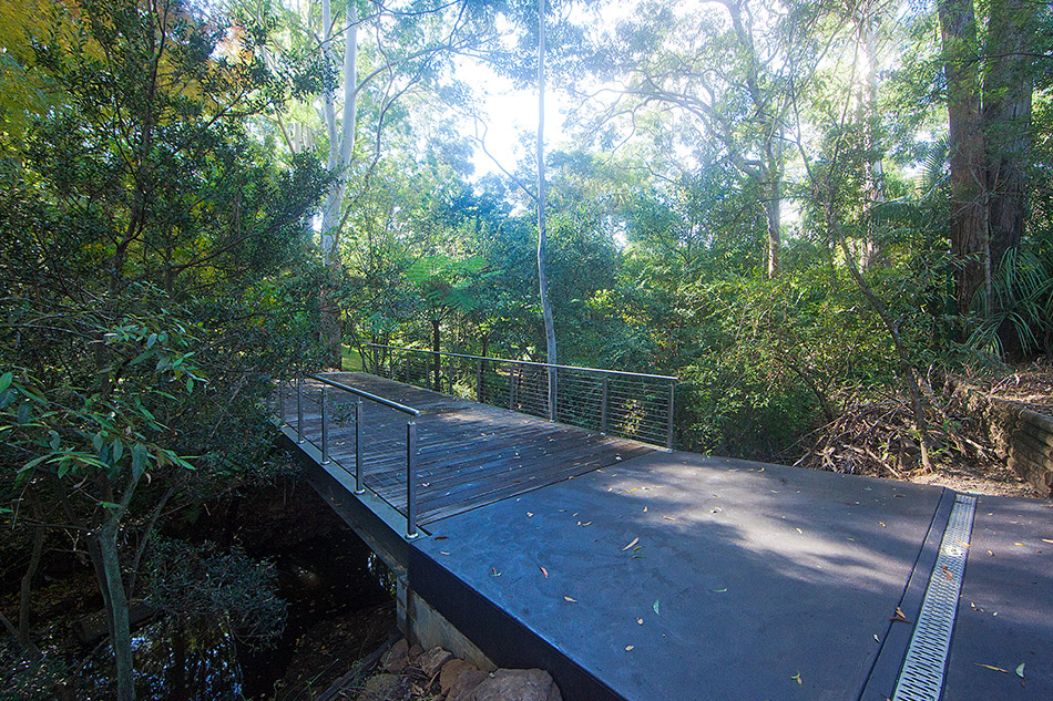 Access bridge construction, Castle Hill